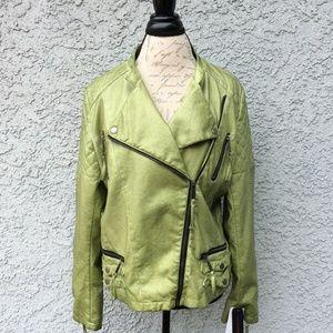 NWT Miss Sixty Vegan Leather Jacket (XL)